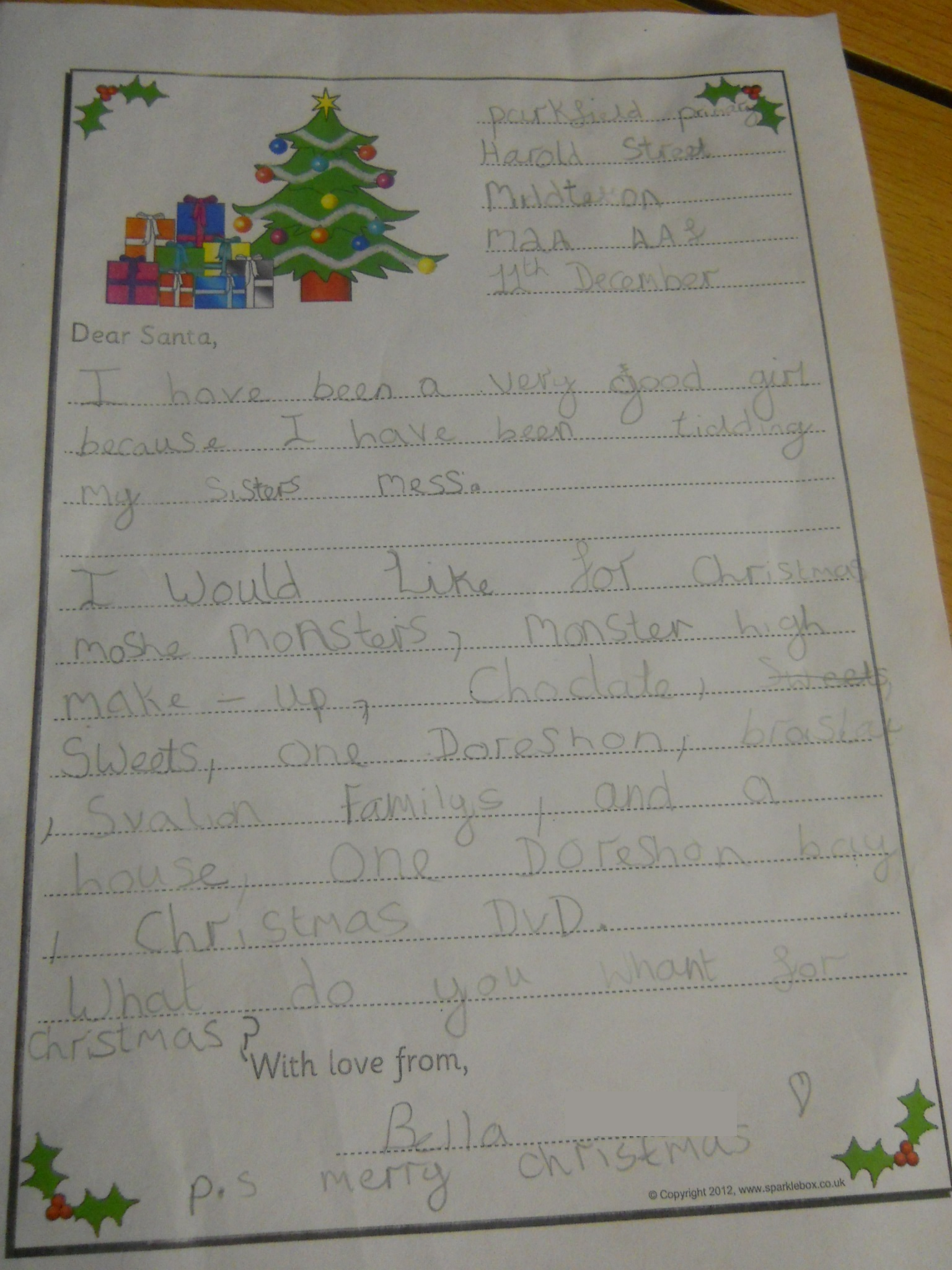 Parkfield primary school year 2 posting letters to santa dscn1687 spiritdancerdesigns Image collections