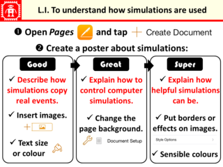 LI for Explore a simulation