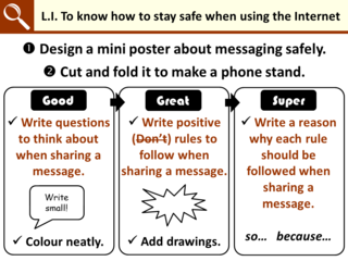 LI for E-Safety (Y6) Messaging Phone Stand