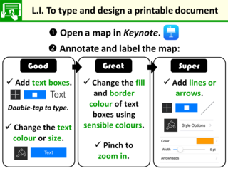 LI for labelling a map